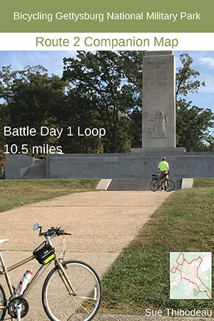 Gettysburg Route 2 Bike Map