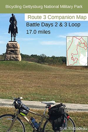 Gettysburg Route 3 Bike Map
