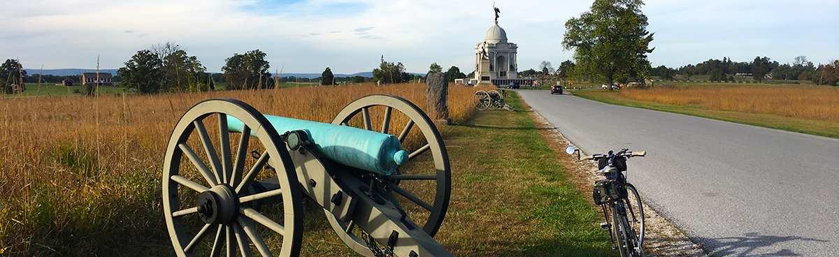 Bike rides through Gettysburg