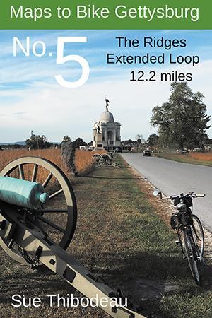 Maps to Bike Gettysburg No.5: The Ridges Extended Loop