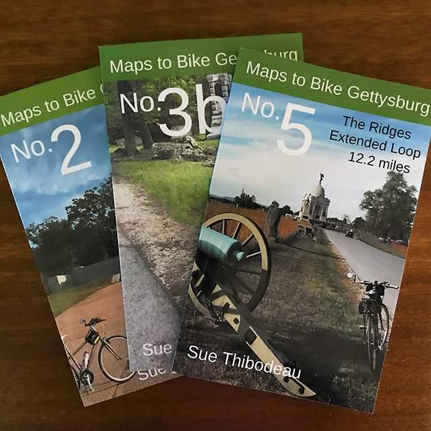 Maps to Bike Gettysburg Mini-Book Series